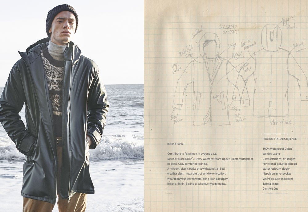 old sketch Didriksons Iceland Parka
